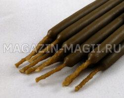 Свечи восковые маканые коричневые