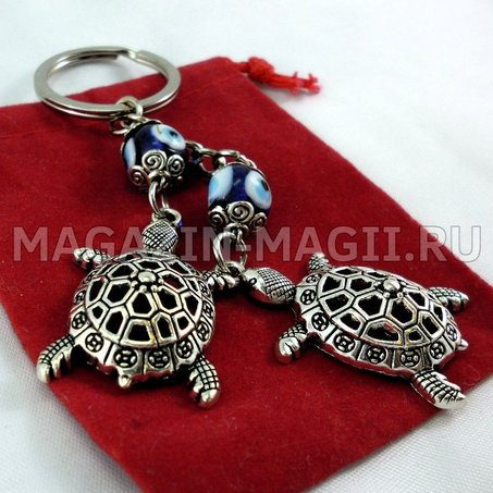 Keychain charm Two turtle