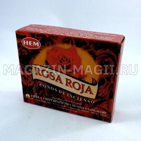 Incense cones Red rose