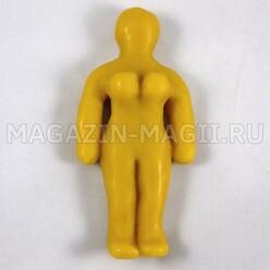 Boneca de cera volts mulheres amarelo