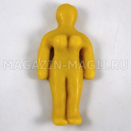 Восковая кукла вольт женская желтая