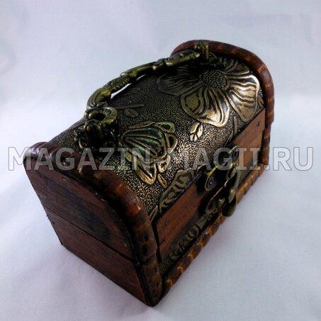 Шкатулка сундук 10-6-7 см