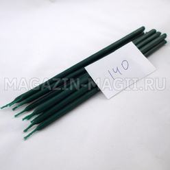Candle wax emerald No. 140 (10 pieces, dipped)