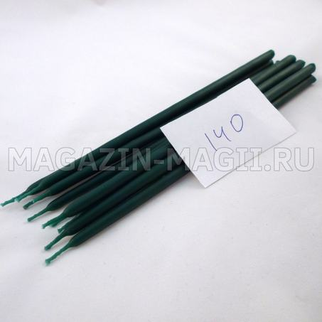 Candle wax emerald green No. 140 dipped