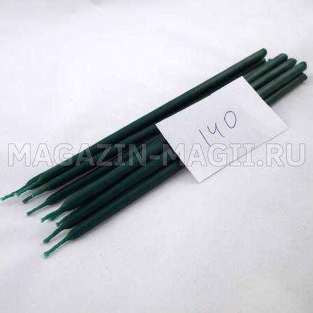 Velas de cera de color verde esmeralda nº 140 маканые