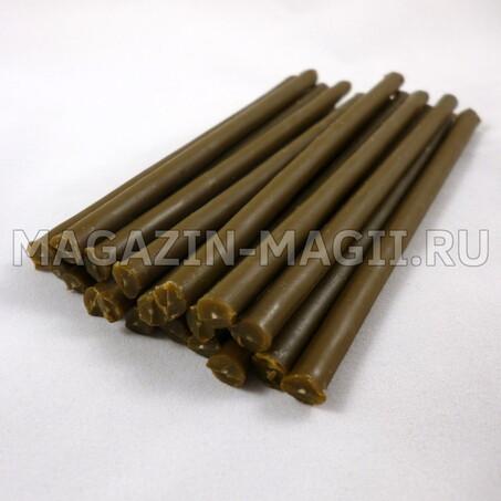 Velas de cera marrón de 10 cm