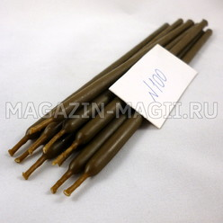 Wax candles brown # 100 (10 pieces, dipped)