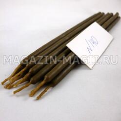 Свечи восковые коричневые №140 (10 шт., маканые)