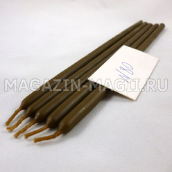 Wax candles brown # 80 (5 pieces, dipped)