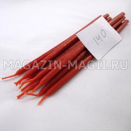 Свечи восковые красные №140 маканые