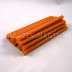 Свечи восковые оранжевые (10см., 20шт., маканые)