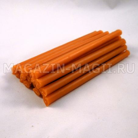 orange wax Candles 10 cm