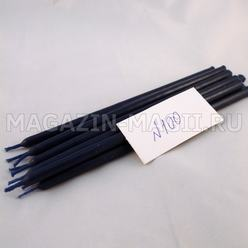 Wax candles blue # 100 (10 pieces, dipped)