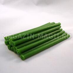 Candele rituali di cera verde (10cm., 15pcs.)