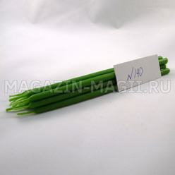 Wax candle green No. 140 (10 pieces, dipped)