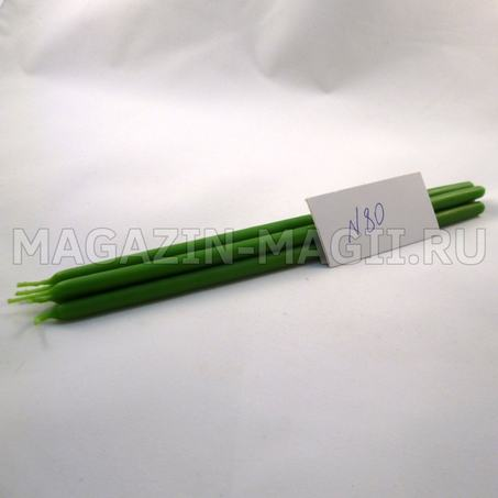 wax Candle green No. 80 dipped