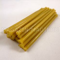 Velas rituais de cera amarelo (10 cm., 15pcs.)